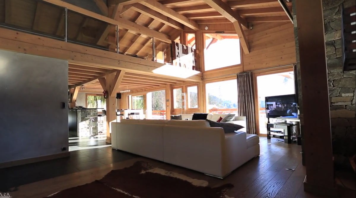 Cuisine chalet contemporain design d 39 int rieur et id es for Interieur chalet contemporain