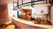 Cuisine et bar chalet triplex les Carroz