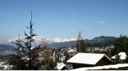 Vue sur les Alpes grand chalet aux Carroz d'Arâches