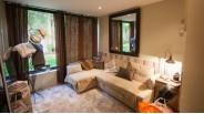 Petite chambre 12 m² en rez-de-jardin