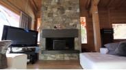 Chalet contemporain cheminée en pierre