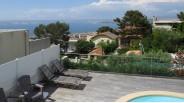 Bastide vue panoramique avec vue mer de la piscine