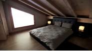 Chambre chalet contemporain de luxe