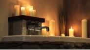 Salle-de-bain luxueux chalet contemporain