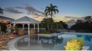 Coucher de soleil sur la Propriété Caribéenne de Saint-Martin